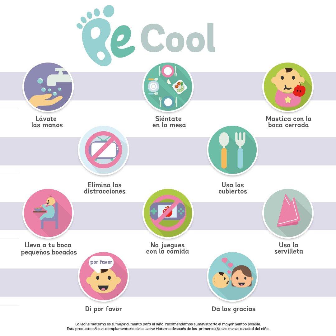 10 normas para niños a la hora de comer
