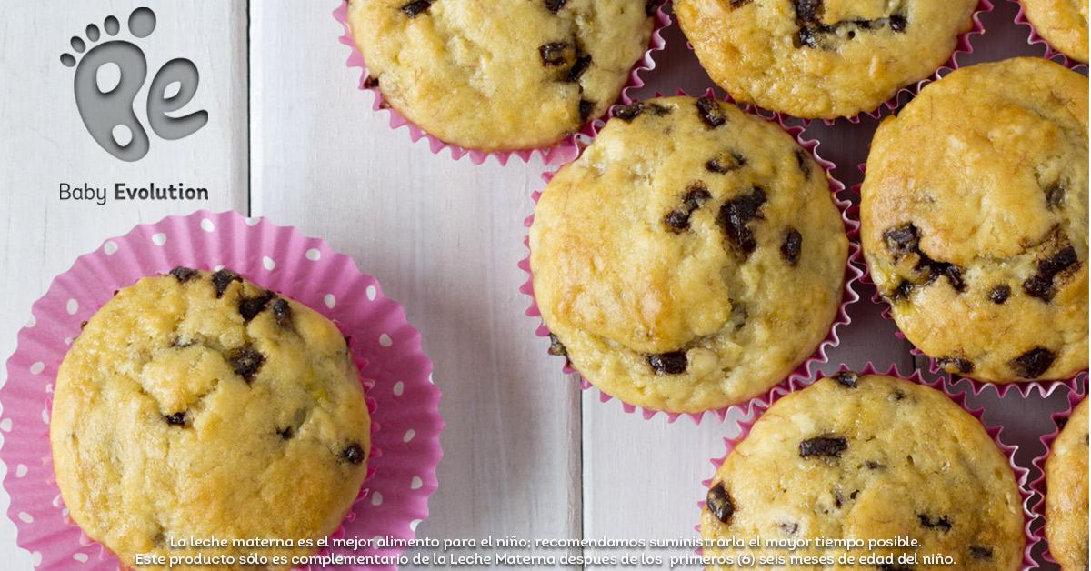 Menú saludable para niños - Muffins de avena y chips de chocolate
