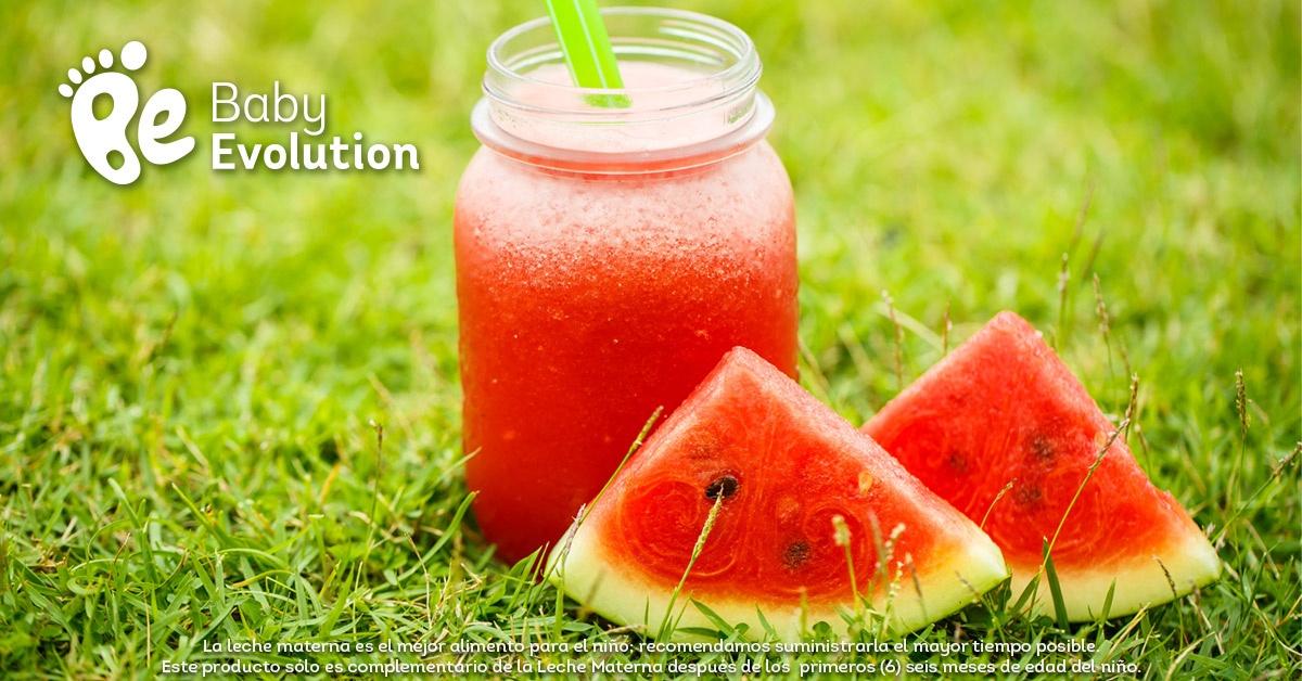 Menú saludable para niños - Bebida de sandía