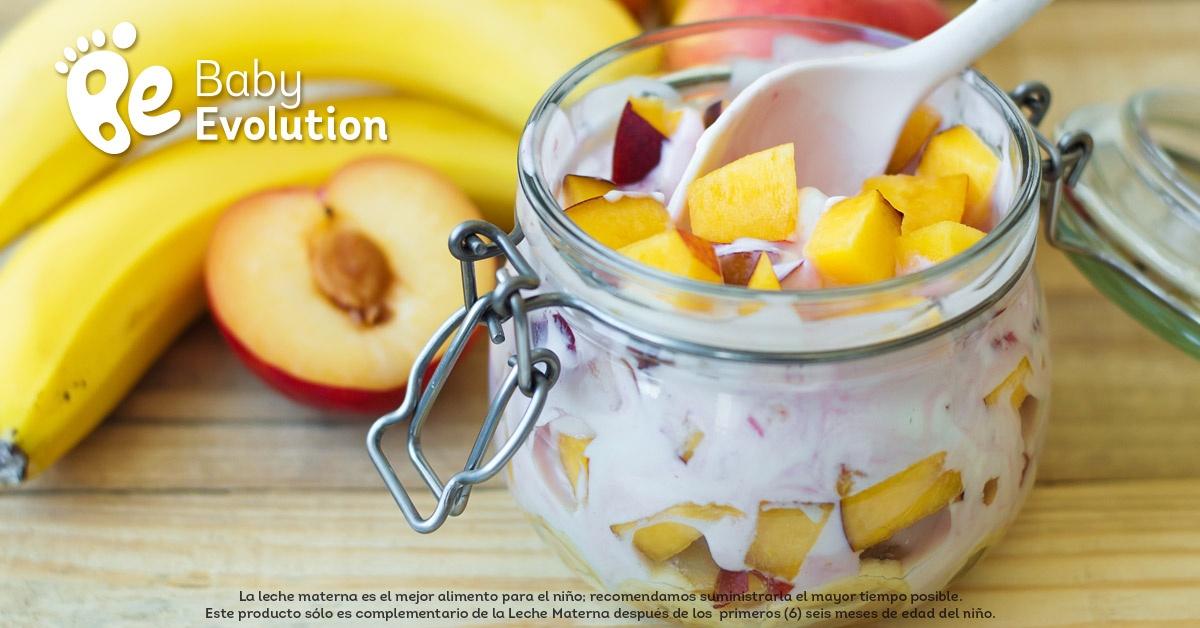 Menú saludable para niños - Ensalada de frutas de yugur