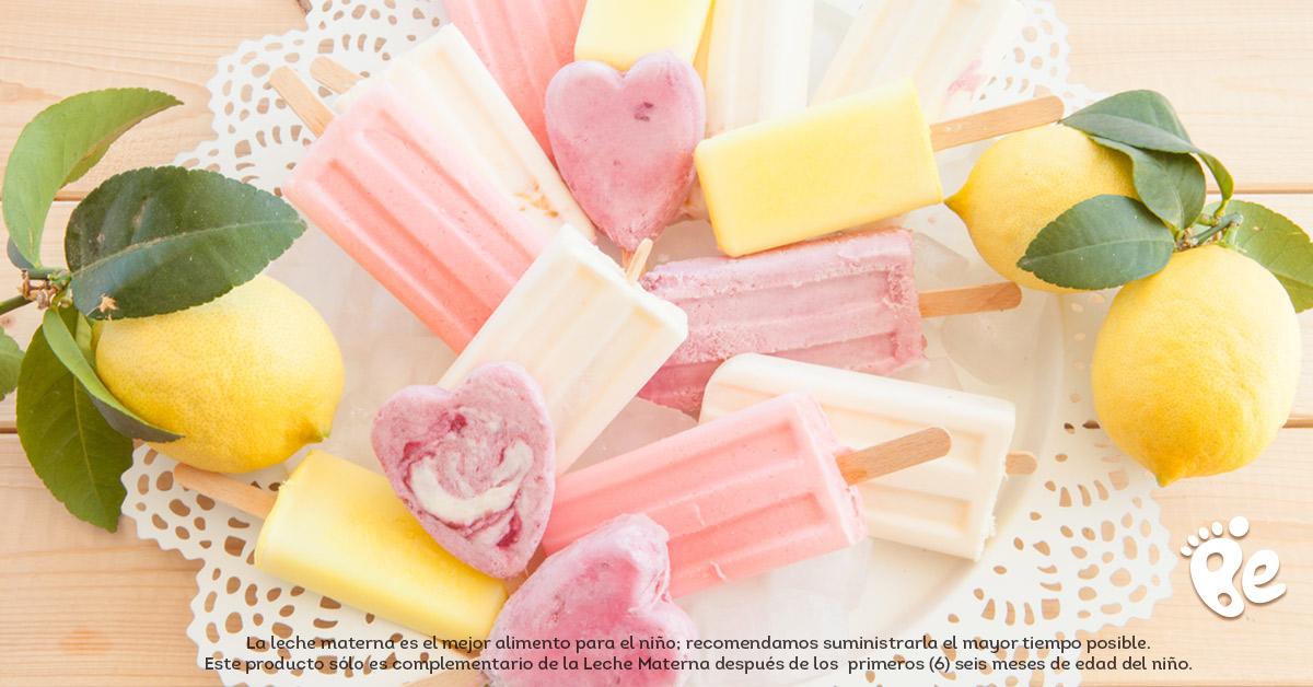 Recetas para niños saludables usando compotas orgánicas - Paletas congeladas de compota