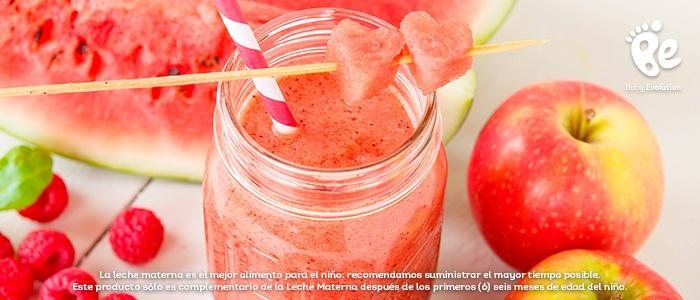 5 batidos saludables y deliciosos para una tarde soleada - Batido manzana y sandía