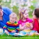 Menú saludable para niños práctico para paseos al aire libre