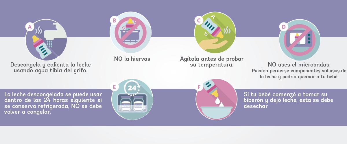 5 tips para almacenar y conservar la leche materna - calentarla