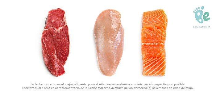 Primeras proteínas animales en la alimentación complementaria