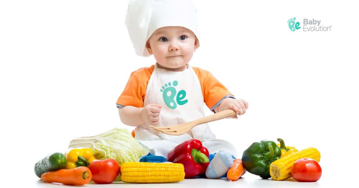Bebè cocinando Baby Evolution