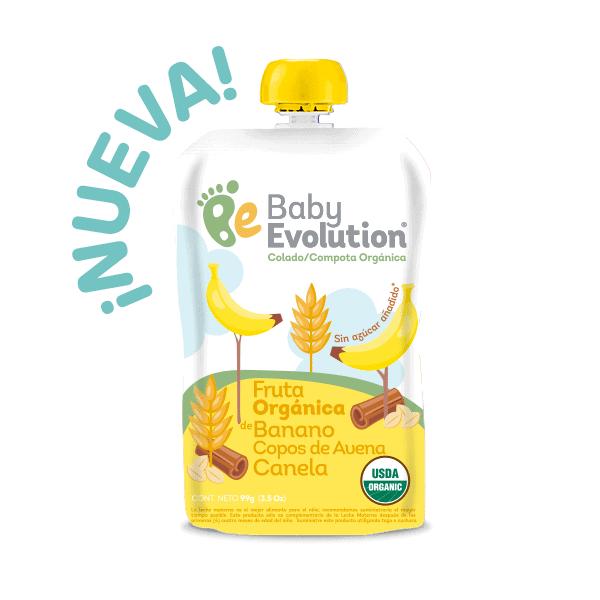 Compota Orgánica Baby Evolution de Manzana Pera