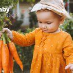 niña con zanahorias baby evolution